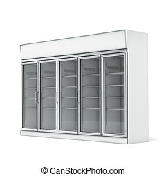 Commercial refrigerator  isolated on a white background