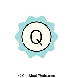 commercial seal with Q letter