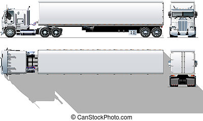 commercial, semi-camion