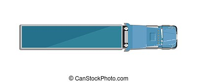 Commercial semi truck top view icon - Commercial semi truck...