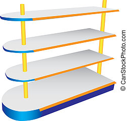 Commercial shelving - A commercial shelving oval shelves. ...