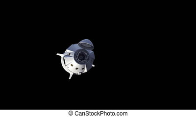 Commercial Spacecraft. Alpha matte. Ultra High Definition. 4K. 3840x2160 3D Animation