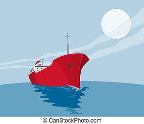 commercial tanker - illustration of a commercial tanker
