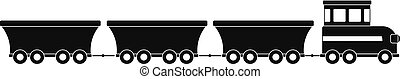 commercial train icon, simple style.