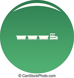 commercial train icon vector green