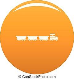commercial train icon vector orange