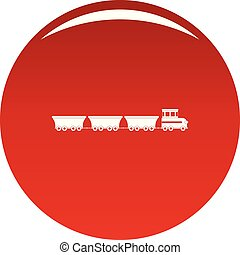 commercial train icon vector red