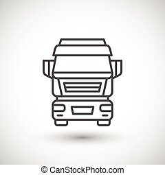 Commercial truck line icon