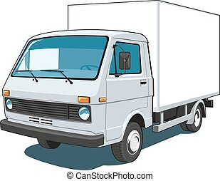 Commercial truck - Vector isolated delivery, commercial ...