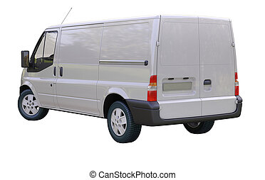 Commercial van isolated - Modern commercial van isolated on ...