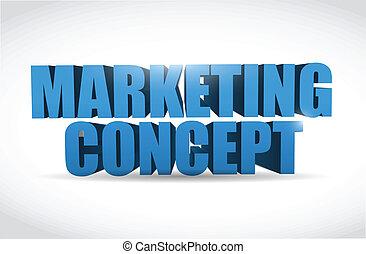 commercialisation, 3d, conception, illustration, texte