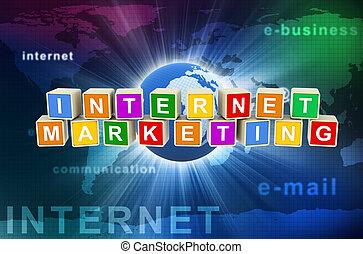 commercialisation, 3d, internet