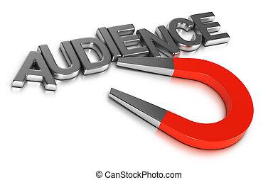 commercialisation, audience, campagne, attirer, nouveau