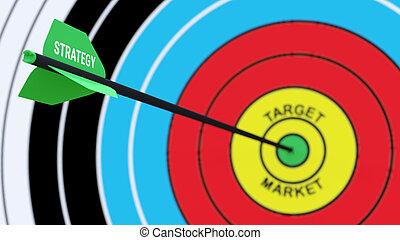 commercialisation, business, concept:, stratégie