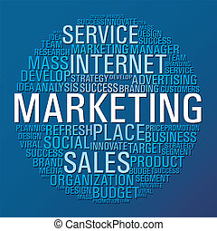 commercialisation, cercle, communication