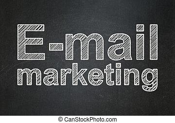 commercialisation, e-mail, publicité, fond, concept:, tableau