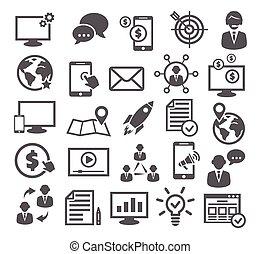 commercialisation internet, icônes