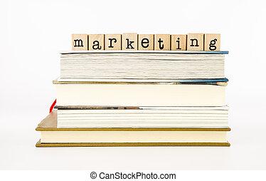 commercialisation, livres, pile, rédaction