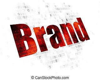 commercialisation, marque, concept:, fond, numérique