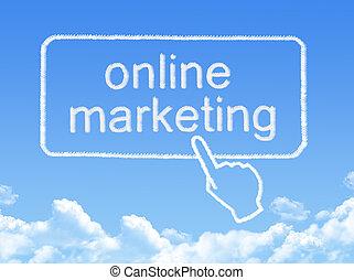 commercialisation, message, forme, nuage, ligne