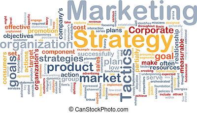 commercialisation, mot, nuage, stratégie