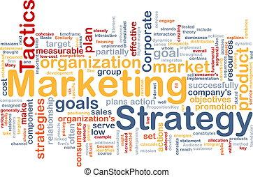 commercialisation, stratégie, mot, nuage