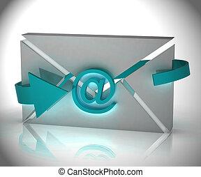 commercialisation, système, automation, rendre, numérique, email, 3d