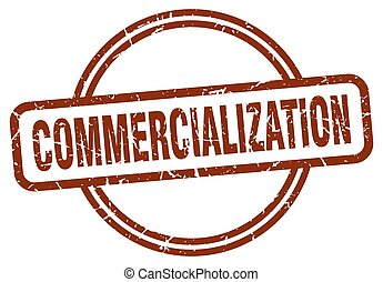 commercialization grunge stamp. commercialization round ...