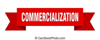 commercialization ribbon. commercialization isolated band ...