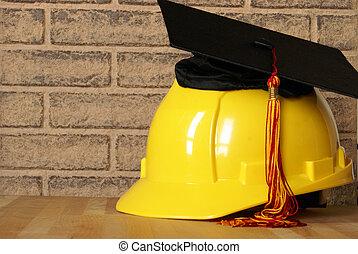 commerciante, graduatiing, successo