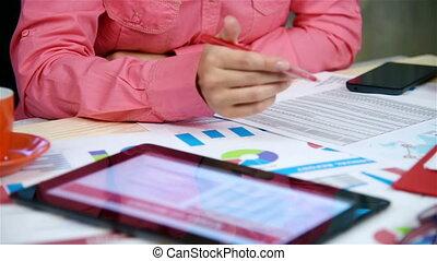 commercianti, analizzare, finanziario, situazione