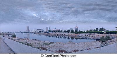 commercieel, centrum, van, jeddah