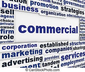 commercieel, poster, concepual, ontwerp