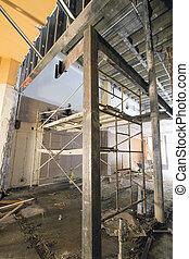 commercieel, ruimte, gebouw stek