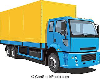 commercieel, vrachtwagen