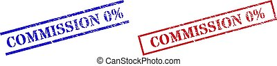 COMMISSION 0% Grunge Rubber Stamp Seals with Rectangle Frame