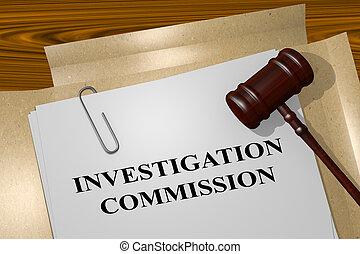 commission, concept, investigation