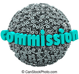 Commission Percent Sign Ball Earning Bonus Pay Rate - The...