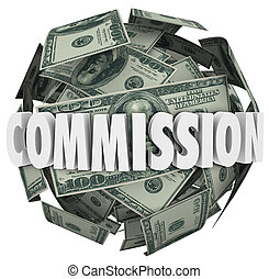 Commission Word Hundred Dollar Bill Ball Sphere