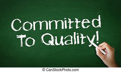 commited, へ, 品質, チョーク, イラスト