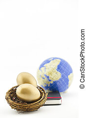 Commitment and success in global investment seen in gold eggs