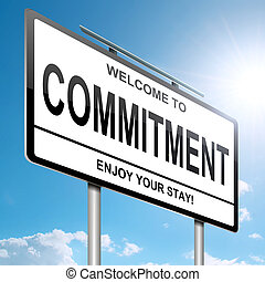 Commitment concept. - Illustration depicting a white ...