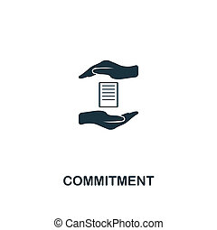 Commitment icon. Premium style design from business management icon collection. Pixel perfect Commitment icon for web design, apps, software, print usage