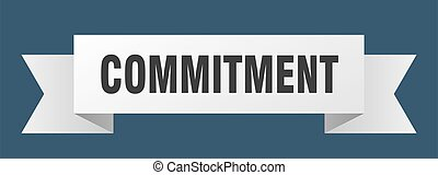 commitment ribbon. commitment paper band banner sign