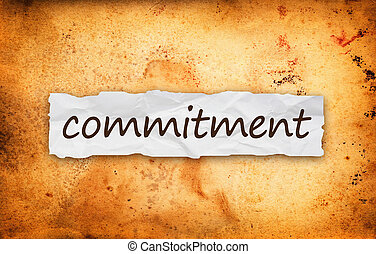 Commitment title on piece of paper - Commitment title on...