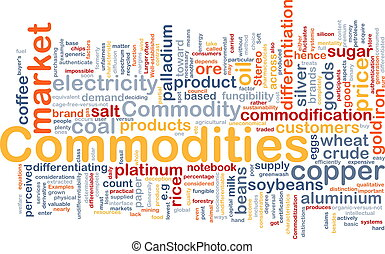 Commodities background concept - Background concept...