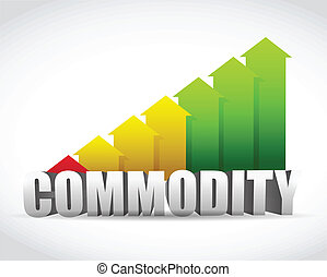 commodity business successful graph illustration design over a white background