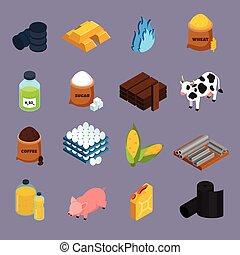 Commodity Icons Set