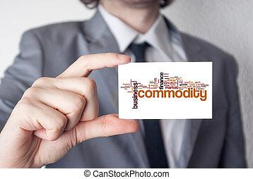 commodity., kiállítás, holdi, üzletember, black öltöny, ...