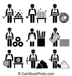 Commodity Precious Industrial Metal - A set of human...